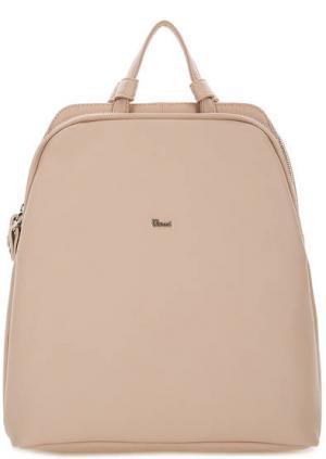 Кожаный рюкзак с двумя отделами Bruno Rossi. Цвет: бежевый