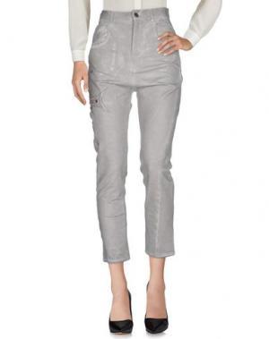 Повседневные брюки ADELE FADO. Цвет: светло-серый