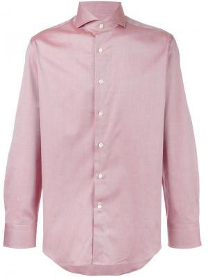 Классическая рубашка Canali. Цвет: красный
