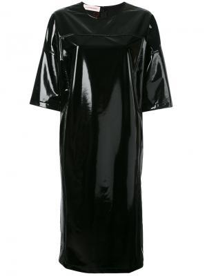 Лакированное платье-футболка A.F.Vandevorst. Цвет: чёрный
