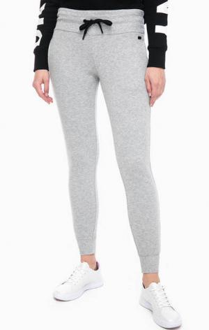 Серые брюки джоггеры из хлопка DKNY. Цвет: серый