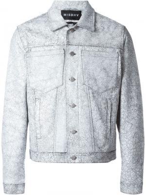 Куртка с потрескавшимся эффектом Misbhv. Цвет: серый
