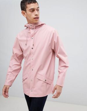 Rains 1201 jacket in pink. Цвет: розовый