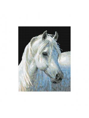Мозаика на подрамнике. Белый конь (090-ST-S) Белоснежка. Цвет: белый