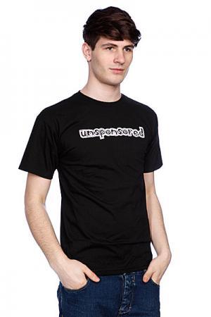 Футболка  Unsponsored Black Blind. Цвет: черный