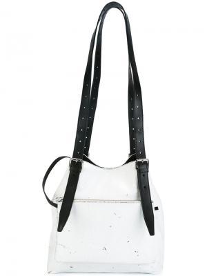 Большая сумка-мешок Mm6 Maison Margiela. Цвет: белый