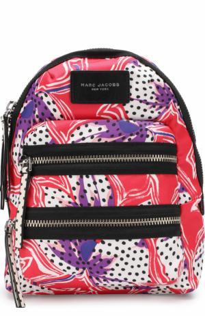 Рюкзак Biker из текстиля с принтом Marc Jacobs. Цвет: красный