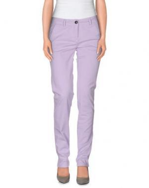 Повседневные брюки REFRIGUE. Цвет: сиреневый