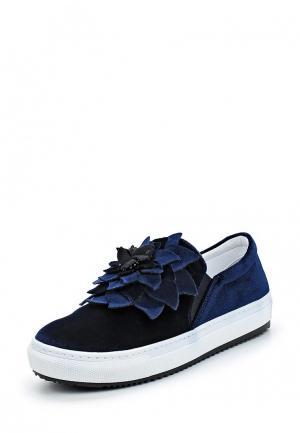 Слипоны Just Couture. Цвет: синий
