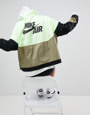 Nike Спортивная куртка колор блок с кнопками. Цвет: мульти