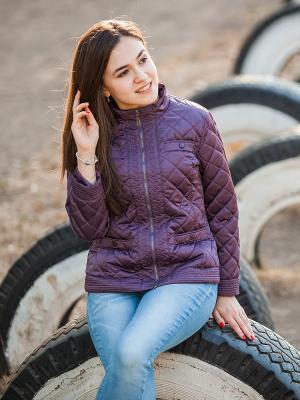 Куртка Аксарт. Цвет: сливовый