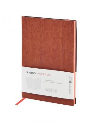 Записная книжка Woodstock на резинке Greenwich Line. Цвет: коричневый