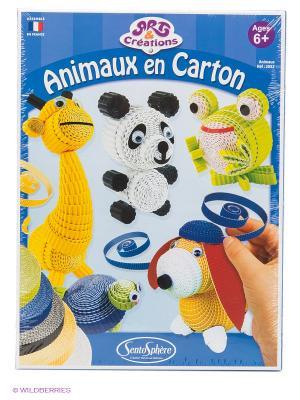 Набор для детского творчества Зверюшки из бумаги SENTOSPHERE. Цвет: синий