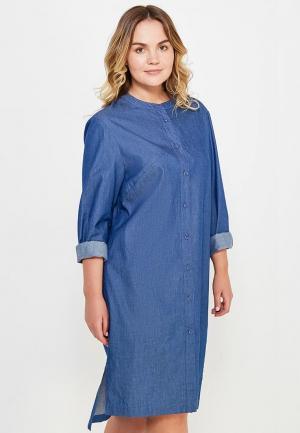 Платье джинсовое W&B. Цвет: синий
