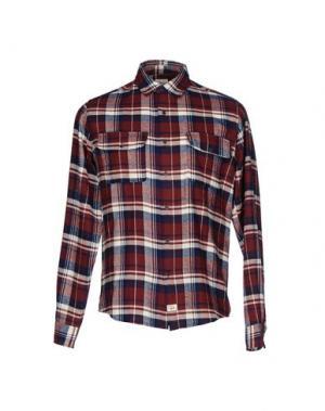 Pубашка 40WEFT. Цвет: красно-коричневый
