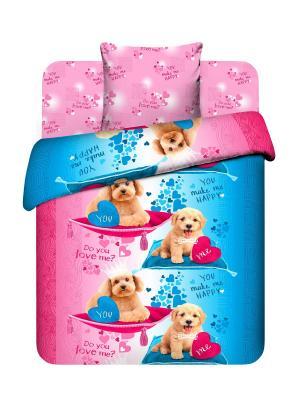 Комплект постельного белья Василек. Цвет: розовый, голубой