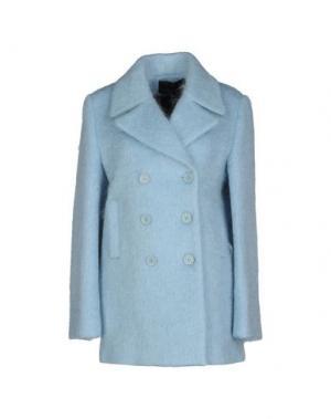 Пальто AMERICAN RETRO. Цвет: небесно-голубой