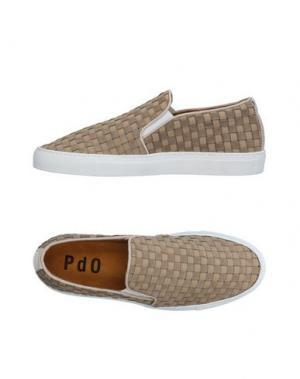 Низкие кеды и кроссовки PANTOFOLA D'ORO. Цвет: хаки