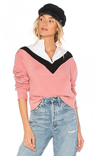 Свитшот colorblock Wildfox Couture. Цвет: розовый