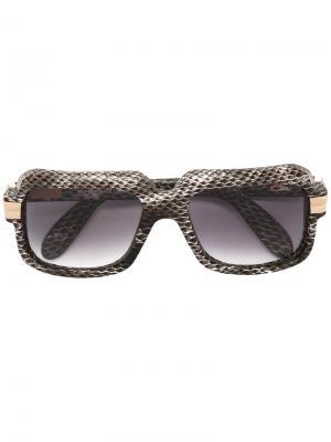 Солнцезащитные очки Leather Limited Edition Cazal. Цвет: серый
