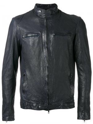 Куртка на молнии Salvatore Santoro. Цвет: синий