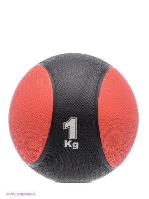 Медицинбол, 1 кг Start Up. Цвет: черный, красный