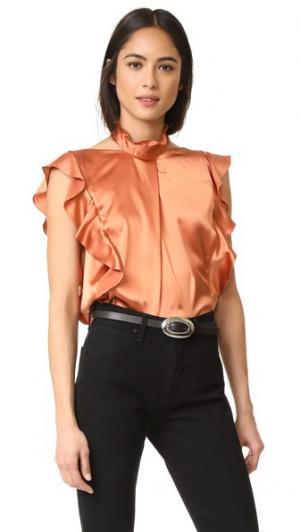 Блуза Sharon Marissa Webb. Цвет: коричневый