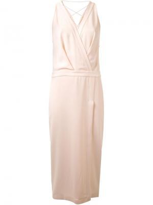 Кружевное платье Dion Lee. Цвет: розовый и фиолетовый