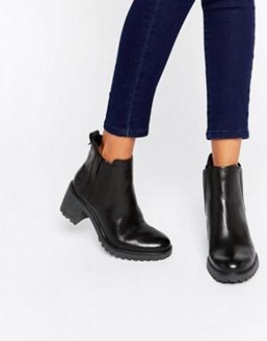 Timberland Черные кожаные ботинки челси. Цвет: черный