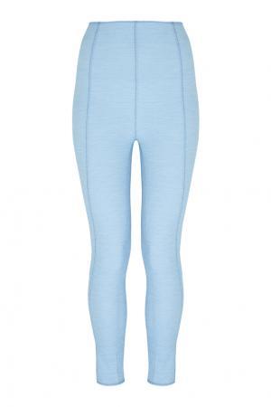 Хлопковые брюки Karlie Denim Lisa Marie Fernandez. Цвет: голубой