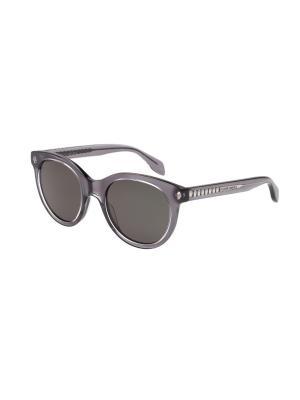 Солнцезащитные очки Alexander McQueen. Цвет: серый