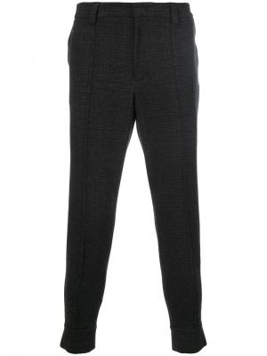 Зауженные брюки Paolo Pecora. Цвет: серый