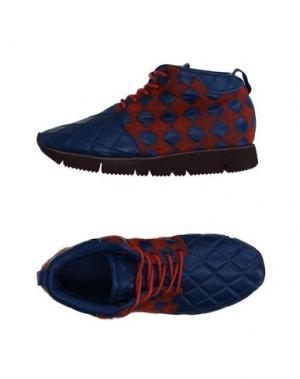 Высокие кеды и кроссовки LEATHER CROWN. Цвет: синий