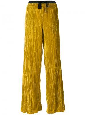 Широкие брюки Nude. Цвет: жёлтый и оранжевый