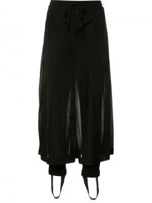 Укороченные прозрачные брюки Christian Dada. Цвет: чёрный