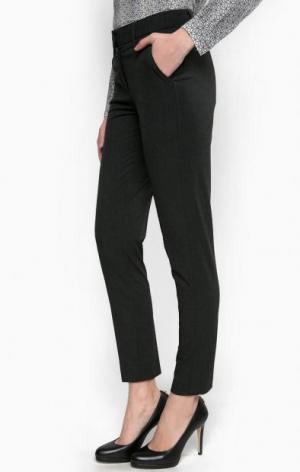 Зауженные темно-серые брюки olsen. Цвет: серый