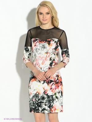 Платье GUESS. Цвет: белый, черный