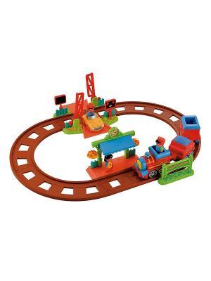 Игровой набор пригородный поезд (Серия Счастливая страна) ELC. Цвет: коричневый, голубой, красный