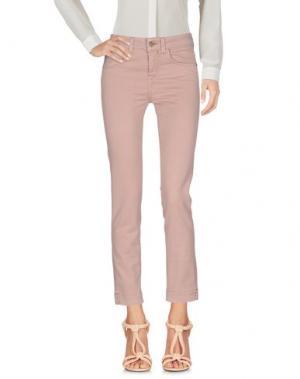 Повседневные брюки KAOS JEANS. Цвет: телесный