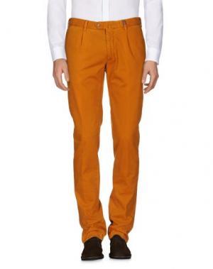 Повседневные брюки GIO ZUBON. Цвет: охра