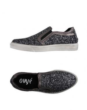 Низкие кеды и кроссовки OVYE' BY CRISTINA LUCCHI. Цвет: свинцово-серый
