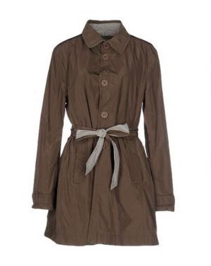 Легкое пальто 313 TRE UNO. Цвет: хаки