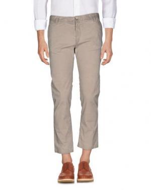 Повседневные брюки MANUEL RITZ WHITE. Цвет: бежевый
