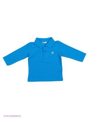 Лонгслив United Colors of Benetton. Цвет: голубой, бежевый, коричневый