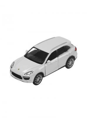 Машинка Инерционная Porsche Cayenne Turbo, Белая (1:32) (PS-554014-W) Pit Stop. Цвет: белый