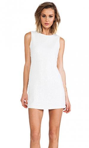 Платье twiggy с блестками Naven. Цвет: белый