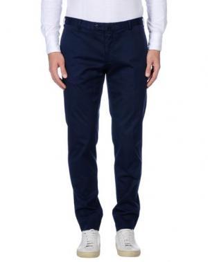 Повседневные брюки GIO ZUBON. Цвет: темно-синий