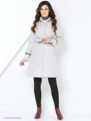 Пальто DIANA Maritta. Цвет: светло-серый