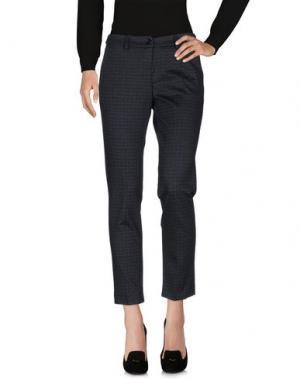 Повседневные брюки MIA SULIMAN. Цвет: стальной серый