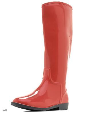 Резиновые сапоги ANRA. Цвет: красный